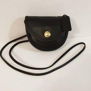 Coach Vintage Black Belt Bag Crossbody Purse